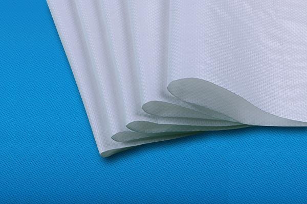 白色编织袋细节展示