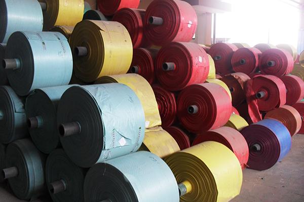 彩色编织袋桶布